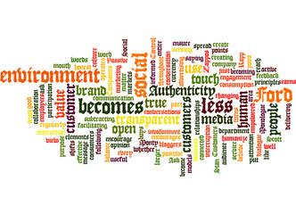 Social Media Principle Concept