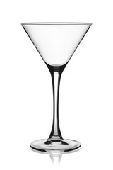 Empty martini glass.