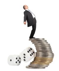 Unbalanced business man