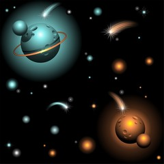 Planets and Stars on Space-Pianeti e Stelle nello Spazio-Vector