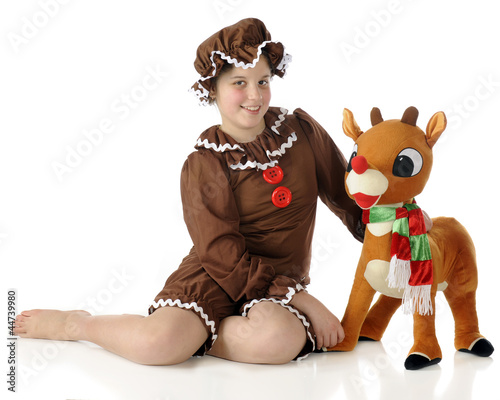 Gingerbread Girl with Rudoph