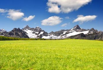 mountain Ober Gabelhorn and Zinalrothorn - Swiss alps