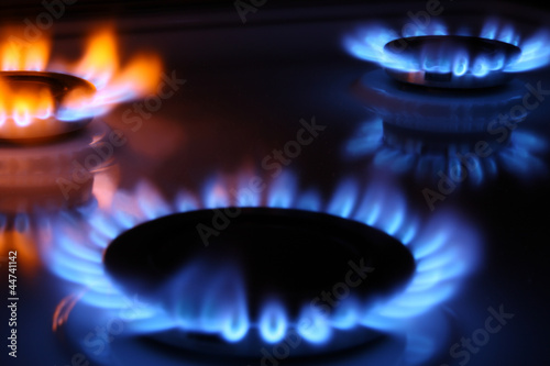 Coloured gas flames