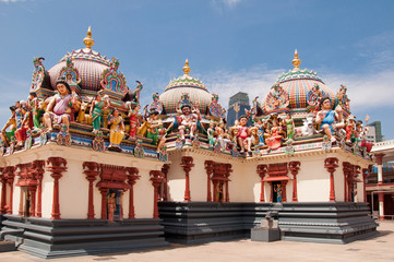 Temelanlage in Little India, Singapur
