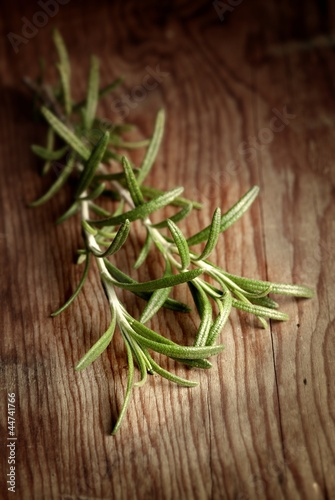 Rosemary over wood