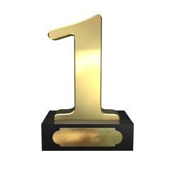1 Pokal Schild