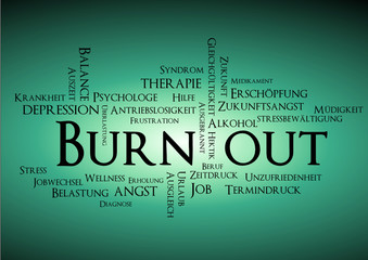 burn out syndrom stichwortwolke