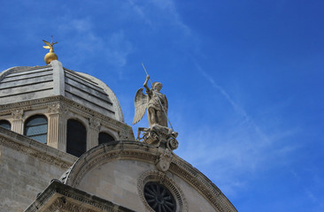 Saint Michael and dome of the Sibenik Cathedral