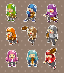 football player stickers