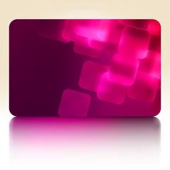 Purple gift card. EPS 8