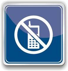 panneau interdit téléphone portable