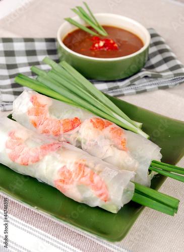 Summer Roll or Fresh Spring Roll , Vietnamese Food