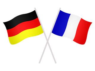 Drapeaux de l'alliance franco-allemande