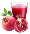 Pomegranate juice with pomegranate