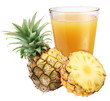 Pineapple juice with ripe pineapple