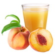 Peach juice with ripe peach
