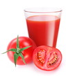 Tomato juice with ripe tomato