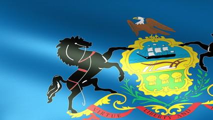 Pennsylvania State Flag Waving