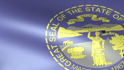 Nebraska State Flag Waving