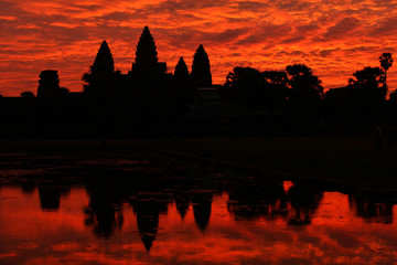 Angkor Wat temple at the sunrise, Cambodia