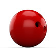 3d Red Bowling Ball on white background