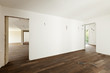 modern interior, empty apartment, wall white