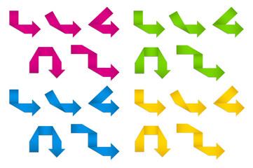Folded Paper Arrows