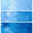 Winter Banners with snowflakes