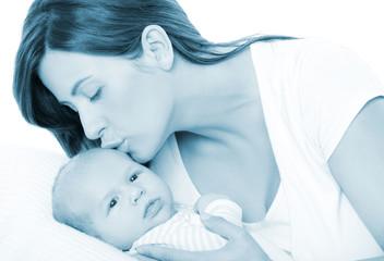 baby mit mama