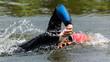 Schwimmer im Triathlon
