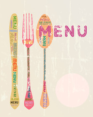 Menu card design template,free copy space