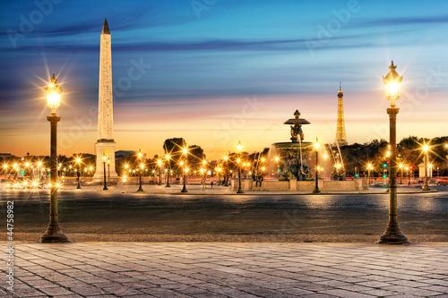 Fototapety, obrazy : Paris Place de la Concorde