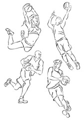 """volleyball silhouettes"""