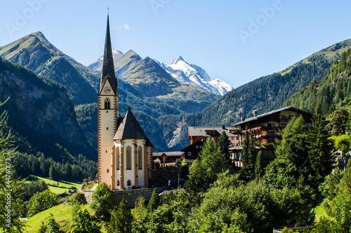 Fototapeten,alpen,großglockner,heiligenblut,kirche