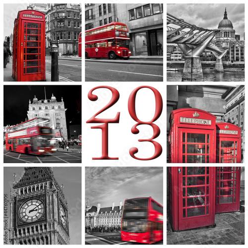 2013, Londres noir et blanc