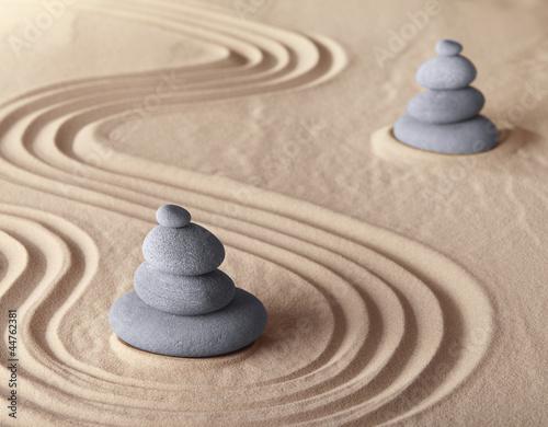 zen meditation garden - 44762381