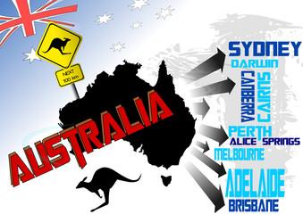 Australien Vektor Illustration 3