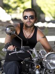 Rebel motorcycle rider