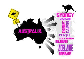 Australien Vektor Illustration