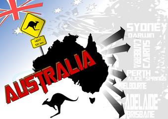 Australien Vektor Illustration 2
