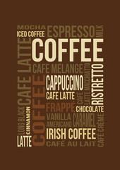 Kaffee Stichwortwolke