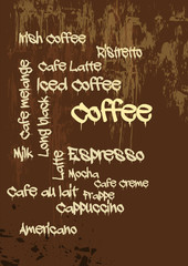 Grunge Coffee - Kaffee - Tagcloud