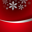 Bright stylish Christmas background with snowflake and copyspace