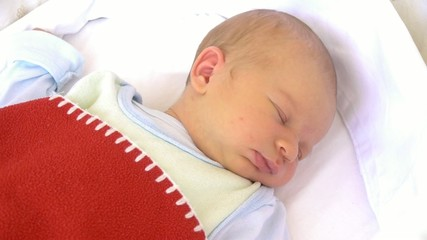 11 days old newborn baby sleeping