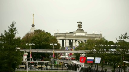 Russian Exhibition Center gate, Moscow