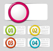 One two three four - vector progress icons
