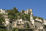 French Village, hilltop town in Provence. France. poster