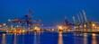 Hamburger Hafen in der Nacht