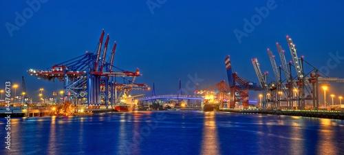 Hamburger Hafen in der Nacht - 44766713