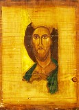 Jesus Christ wood painting